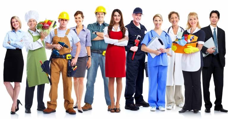 verschillende werknemers